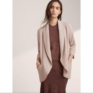 Wilfred x Aritzia grey blazer neutral open front 0